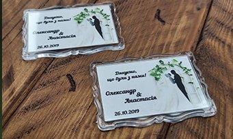 заказать магниты на свадьбу